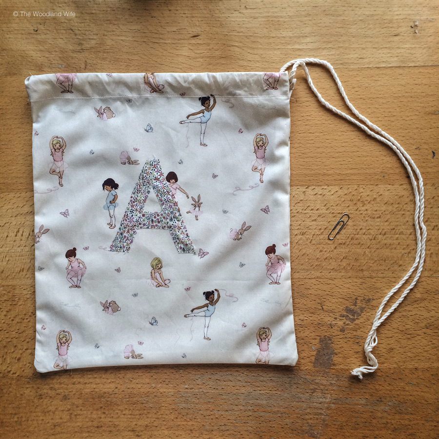 Belle and Boo Ballet Bag Drawstring Bag