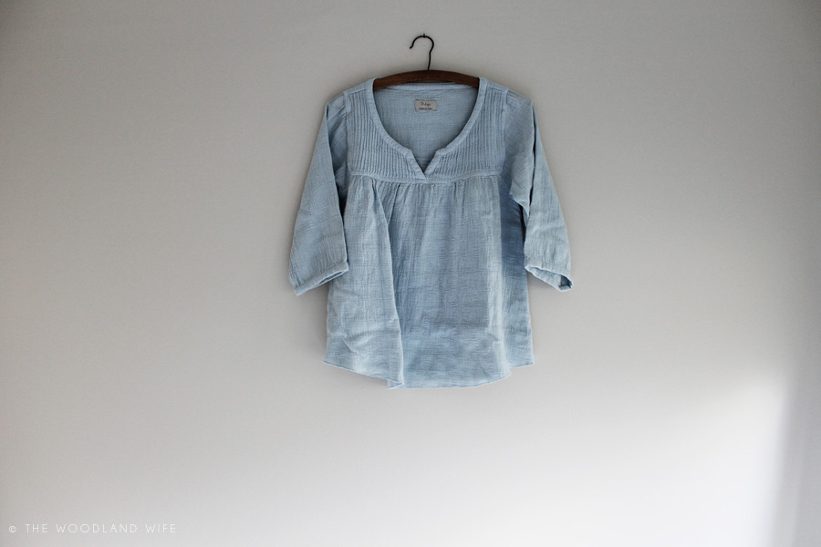 The Woodland Wife - Wrap London - Kerrie Blouse Glacier Blue