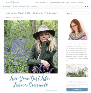 Live Your Best Life Feature - Gabrielle Treanor - The Woodland Wife