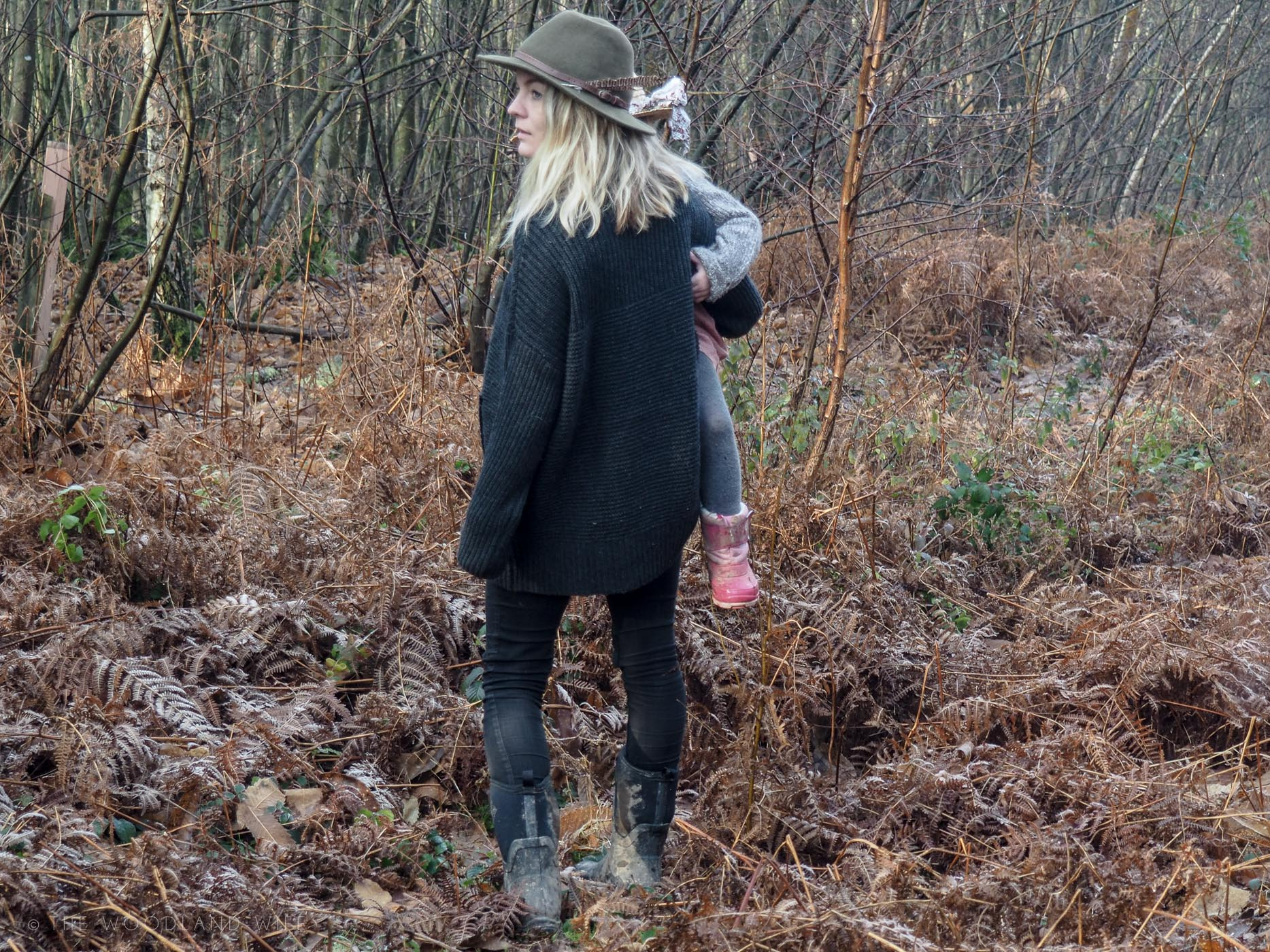 The Woodland Wife - On a bright Winter's Morning - Woolovers Wool Roll Neck