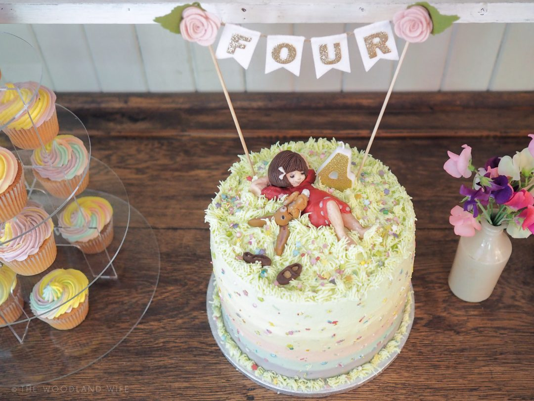 Belle And Boo Rainbow Ombre Birthday Cake The Woodland Wife
