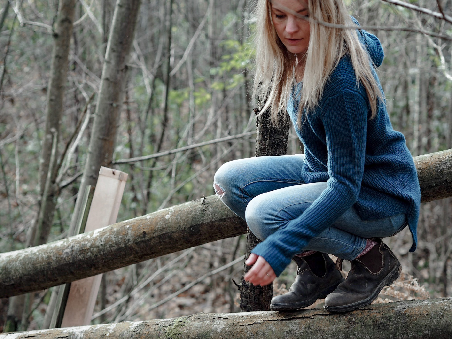 The Woodland Wife - WoolOvers - Womens Pure Wool Clothing - Life in the woods - Slow Living - You're never too old to climb a tree