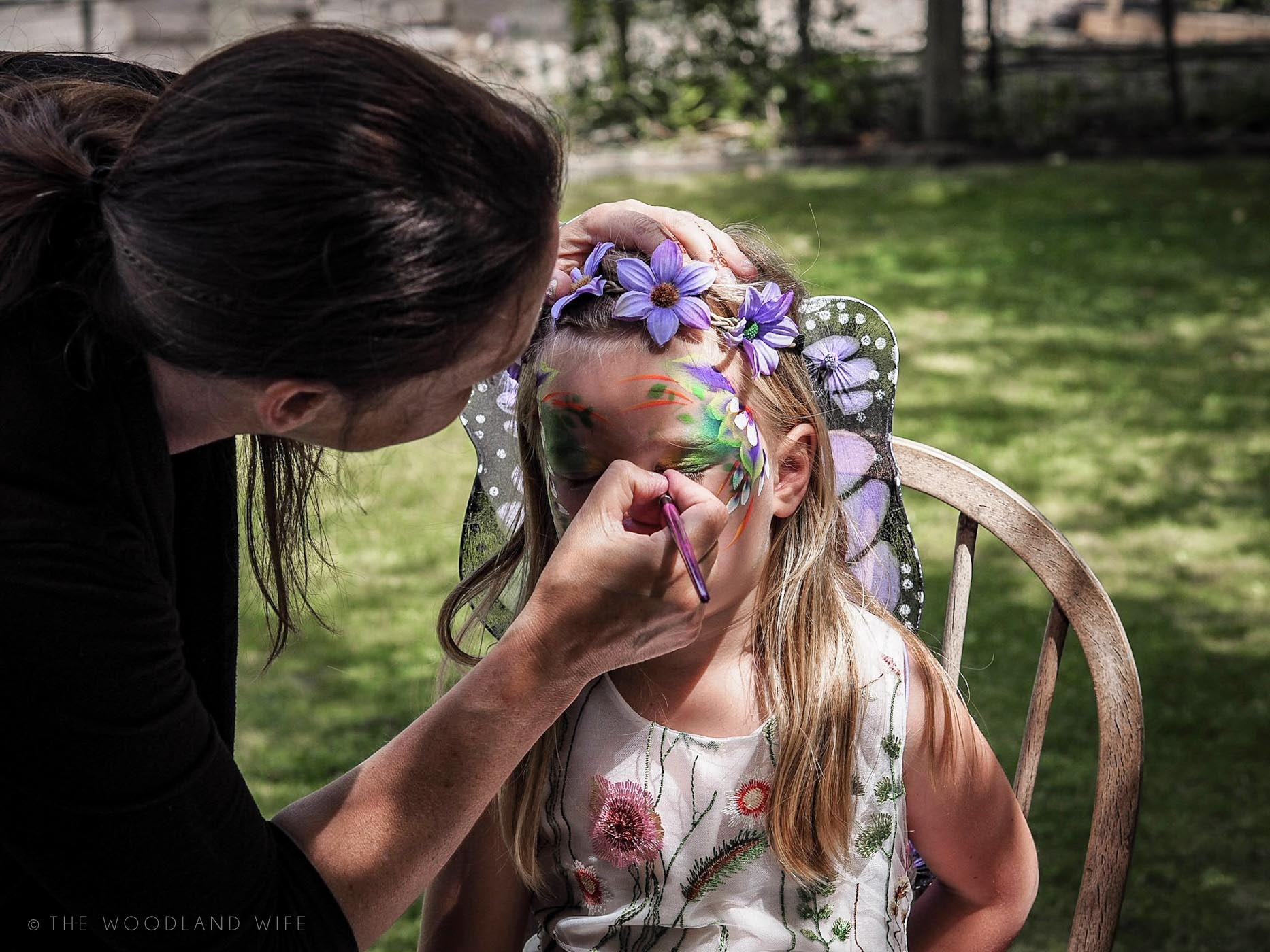 The Woodland Wife - Flower Fairy Party - Woodland Party - Festival Face Painting - Fairies