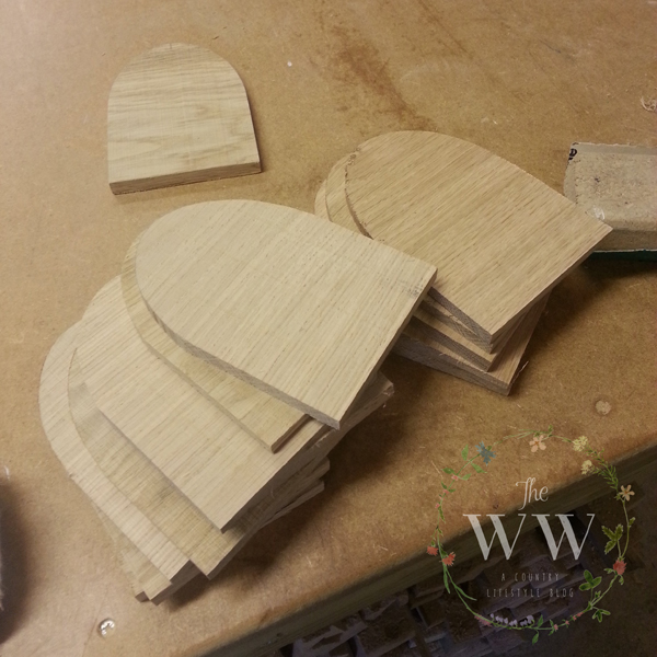 Door shaped blanks, now onto the finish