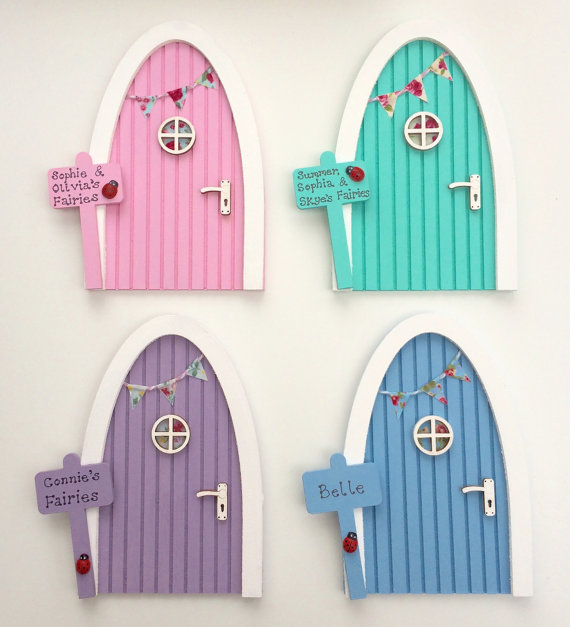 Personalised Wooden Handmade Fairy Door
