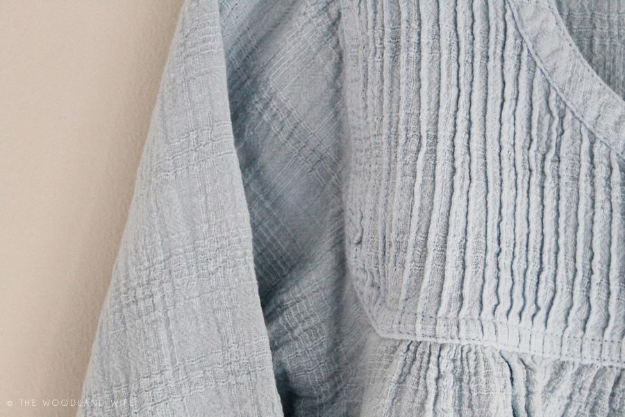 The Woodland Wife - Wrap London - Kerrie Blouse Glacier Blue
