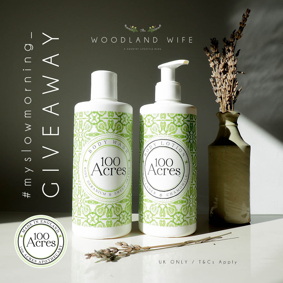 The Woodland Wife - 100 Acres 100% natural body products giveaway