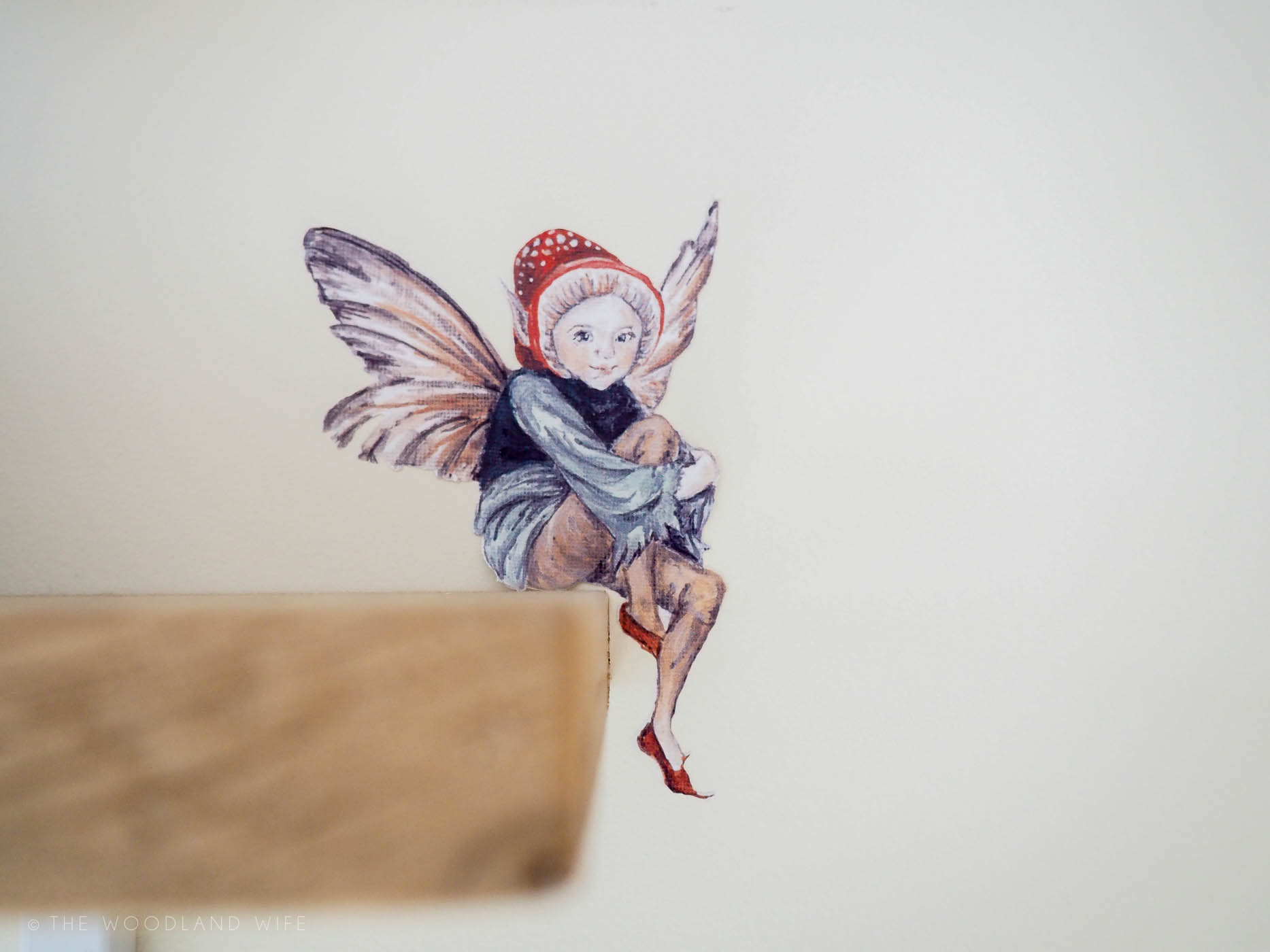 The Woodland Wife - Smock and Ballpoint Wildlife Wall Decal, Fairy Wall Decal