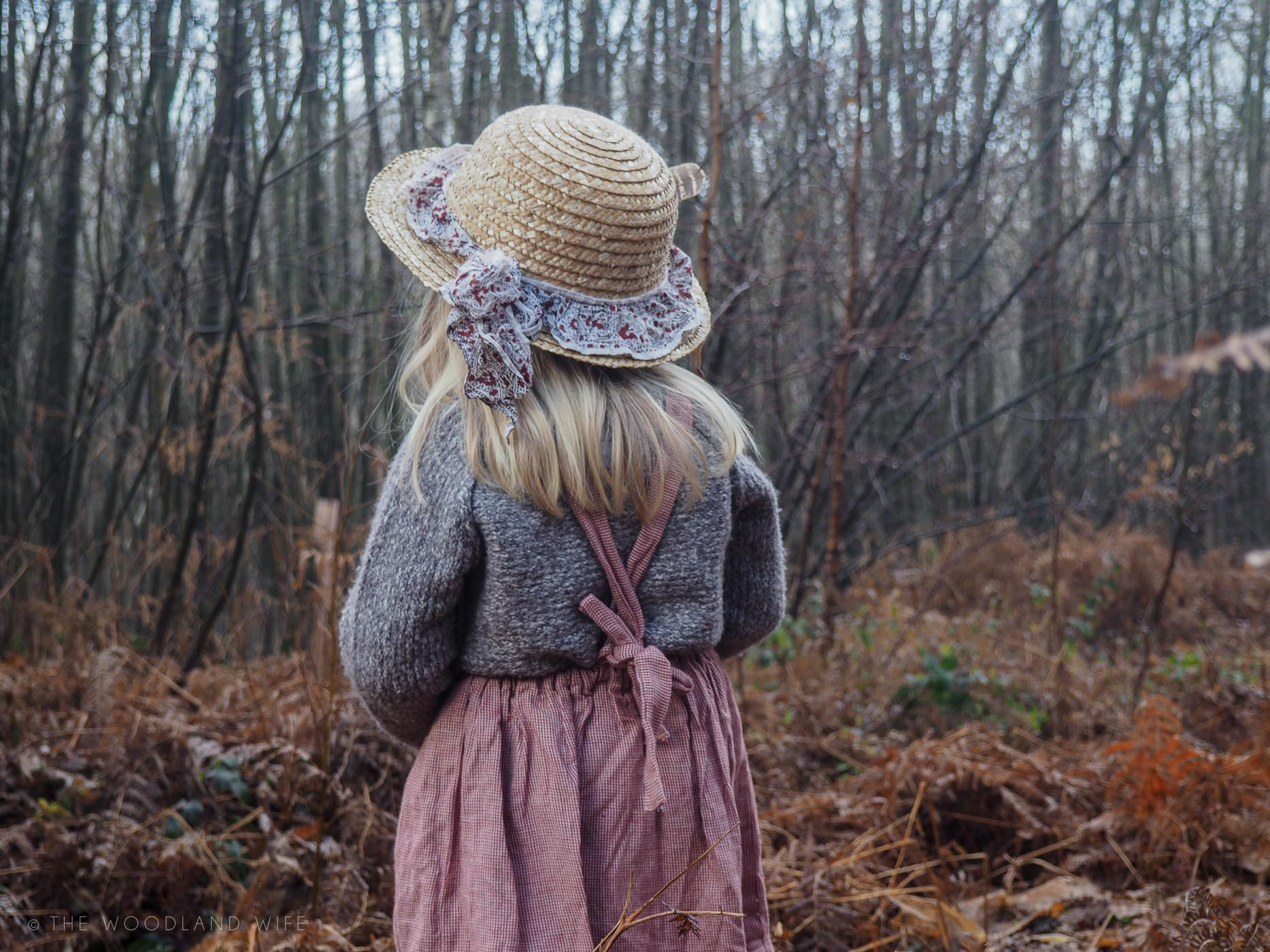 The Woodland Wife - On a bright Winter's Morning - Nellie Quats Pinafore Dress