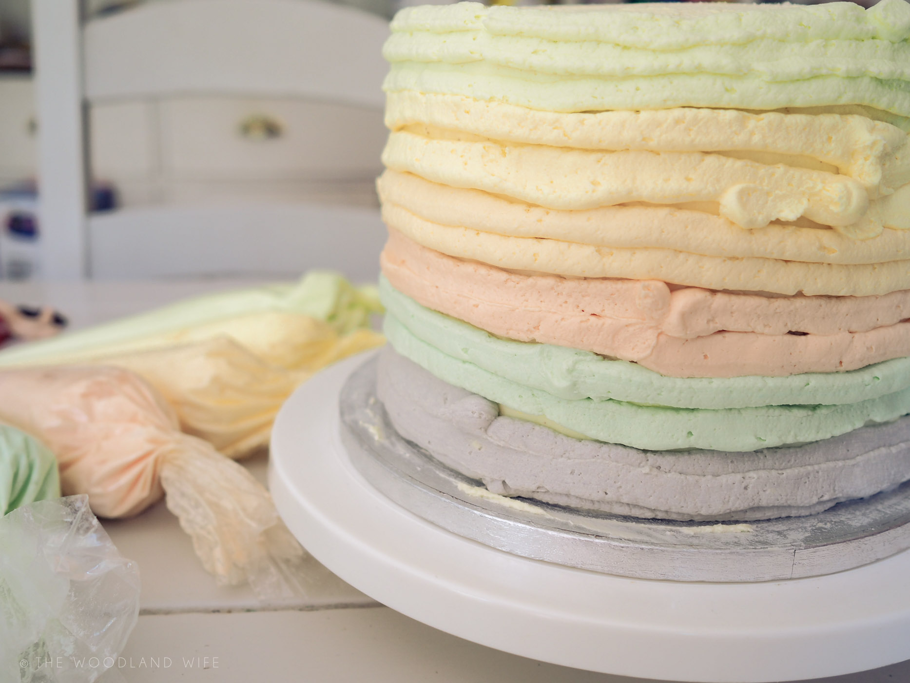 The Woodland Wife - Belle and Boo Birthday Cake - Rainbow Cake - Ombre Cake - Pastel Cake