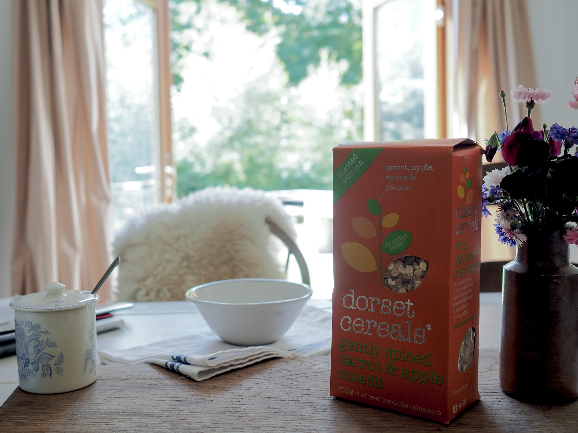 The Woodland Wife - Slow Breakfast - Dorset Cereals - Limited Edition - Gently Spiced Carrot & Apple Muesli
