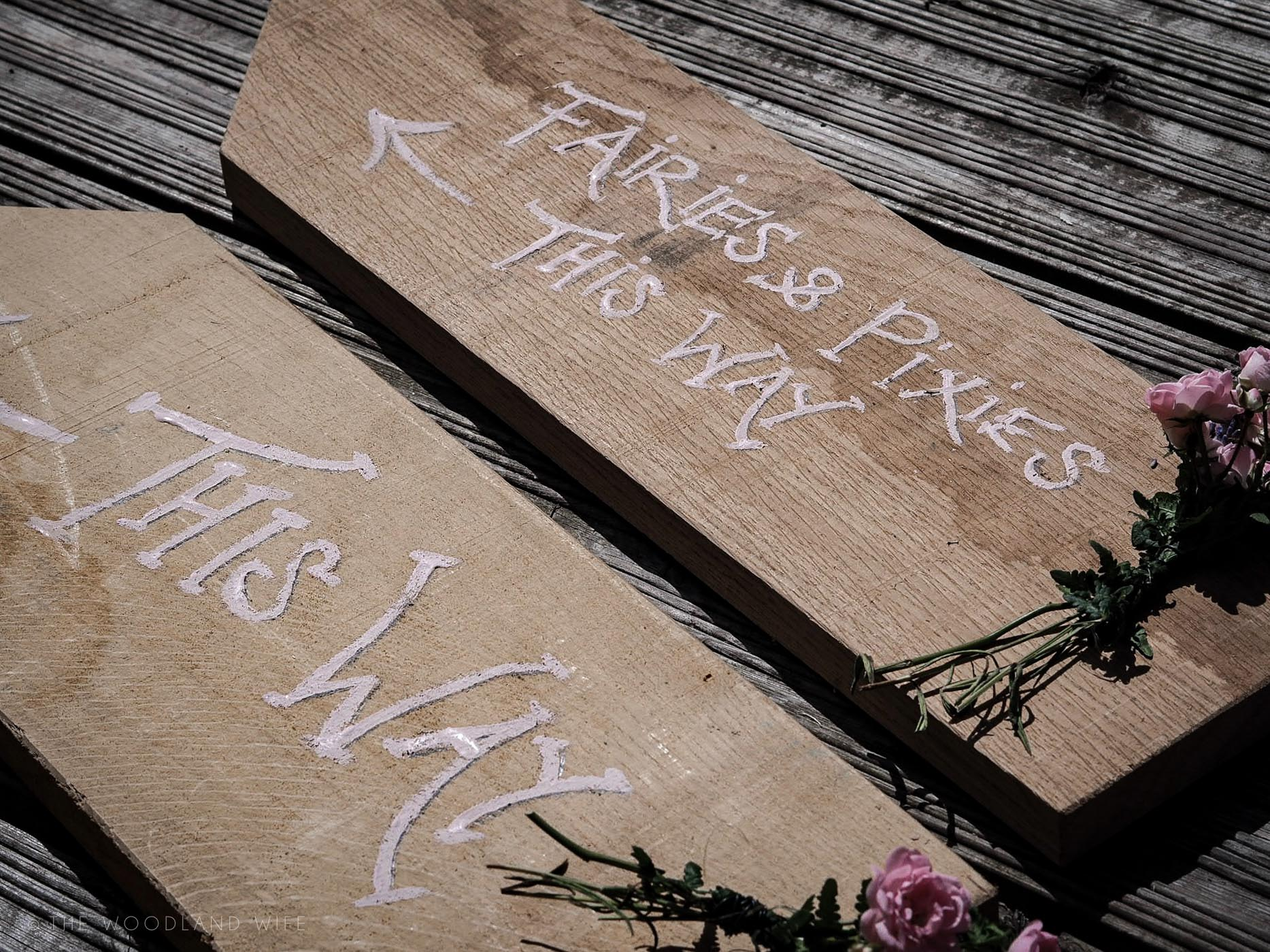 The Woodland Wife - Flower Fairy Party - Woodland Party - Woodland Party Signs - Fairies