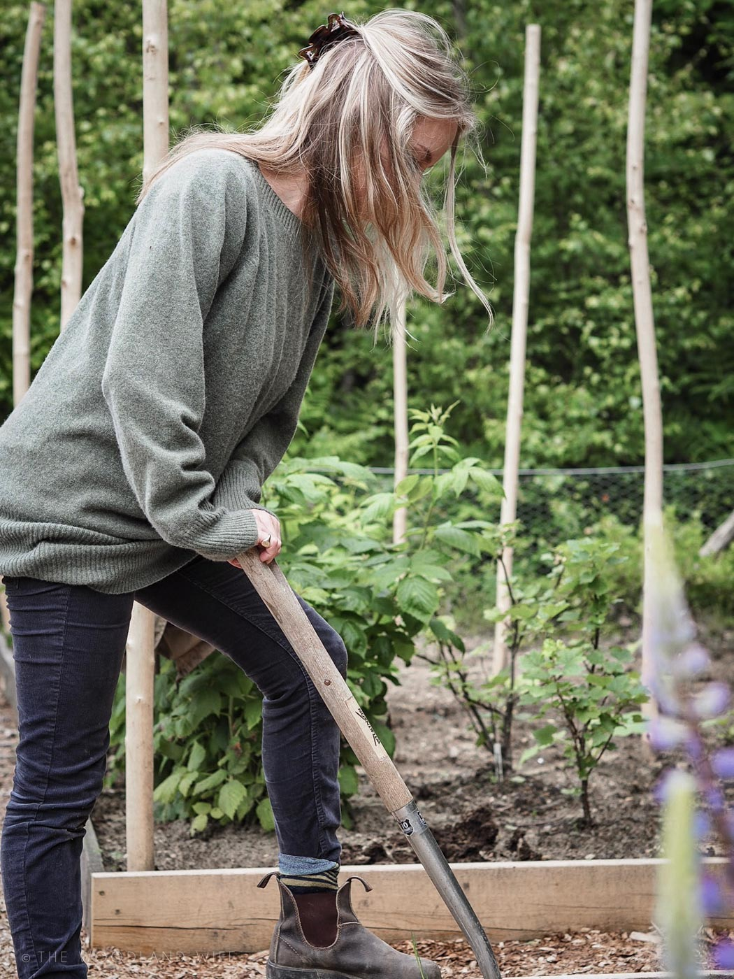 The Woodland Wife - Woodland Vegetable Garden - Grow Your Own - Celtic and Co - Womens Knitwear