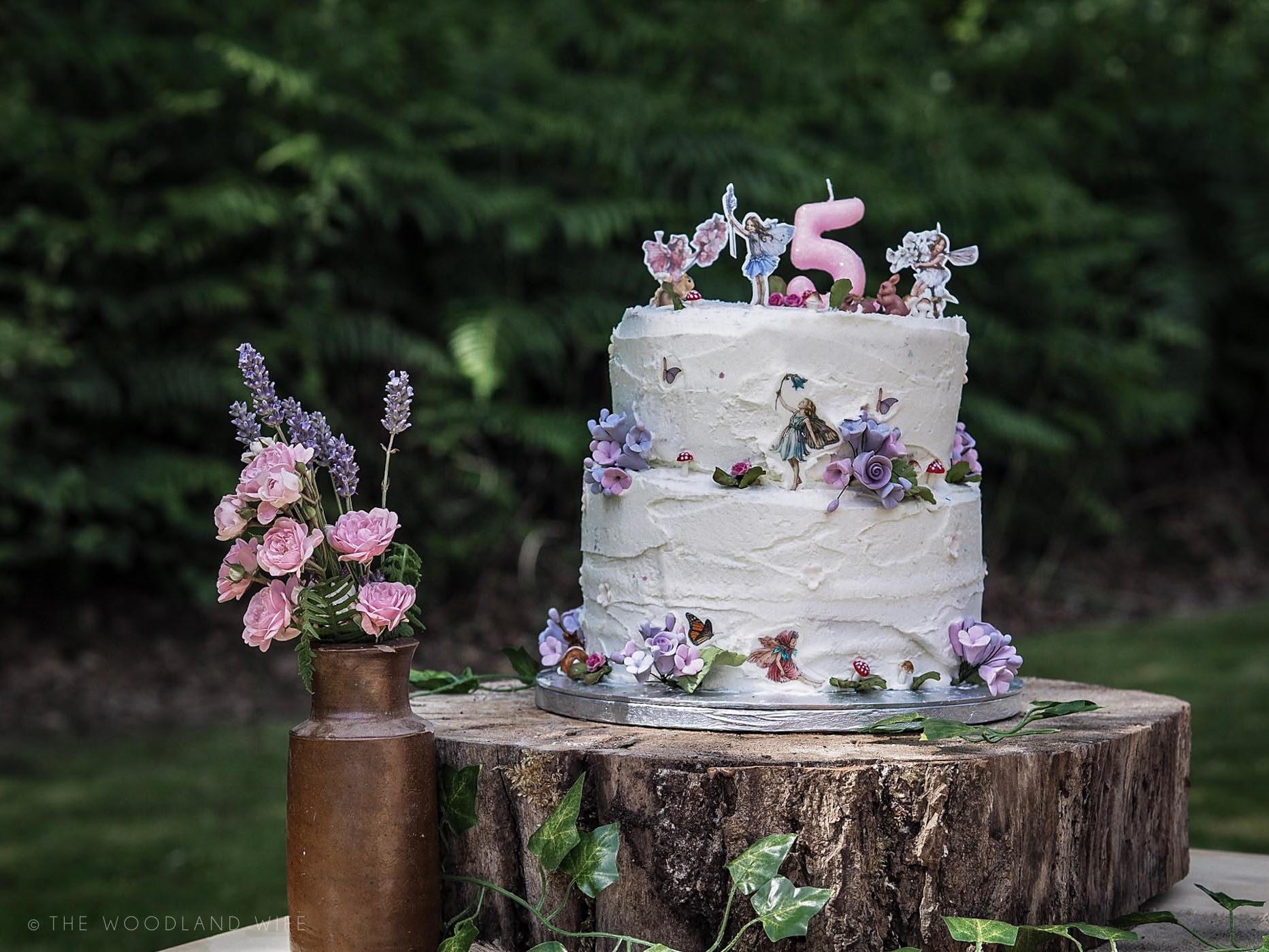 The Woodland Wife - Flower Fairy Party - Woodland Party - Flower Fairy Birthday Cake - Fairies