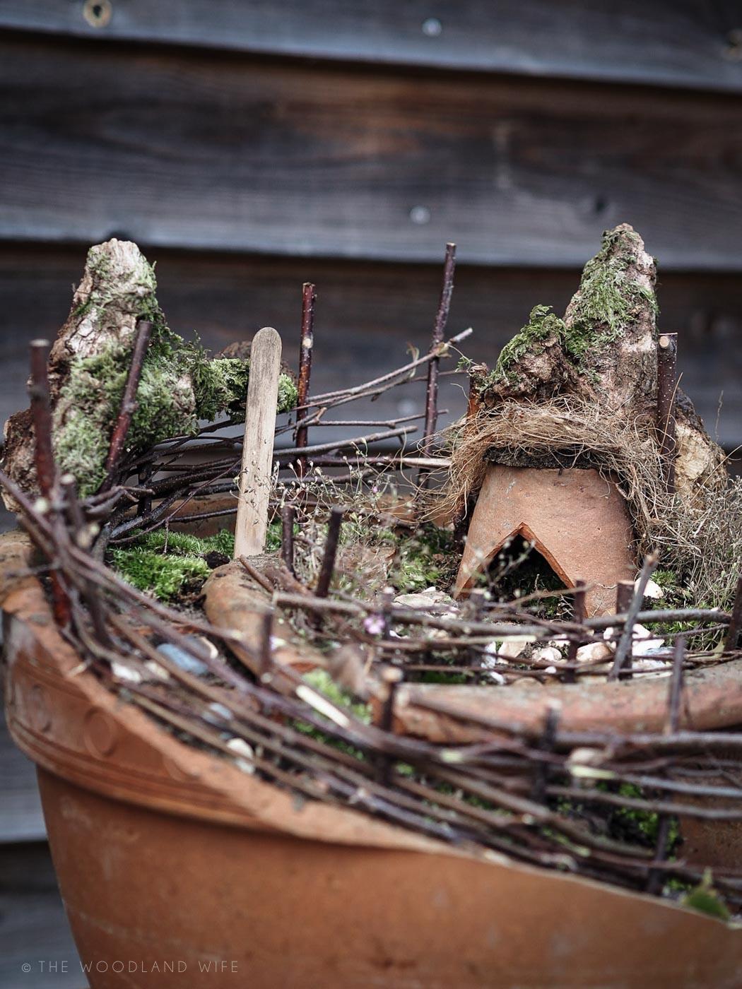 The Woodland Wife - How to Make Broken Pot Fairy Garden